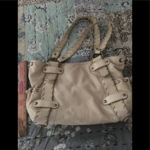 Kooba creamy colored large shoulder bag